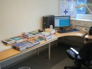 My office at Linkoping University (Sweden)